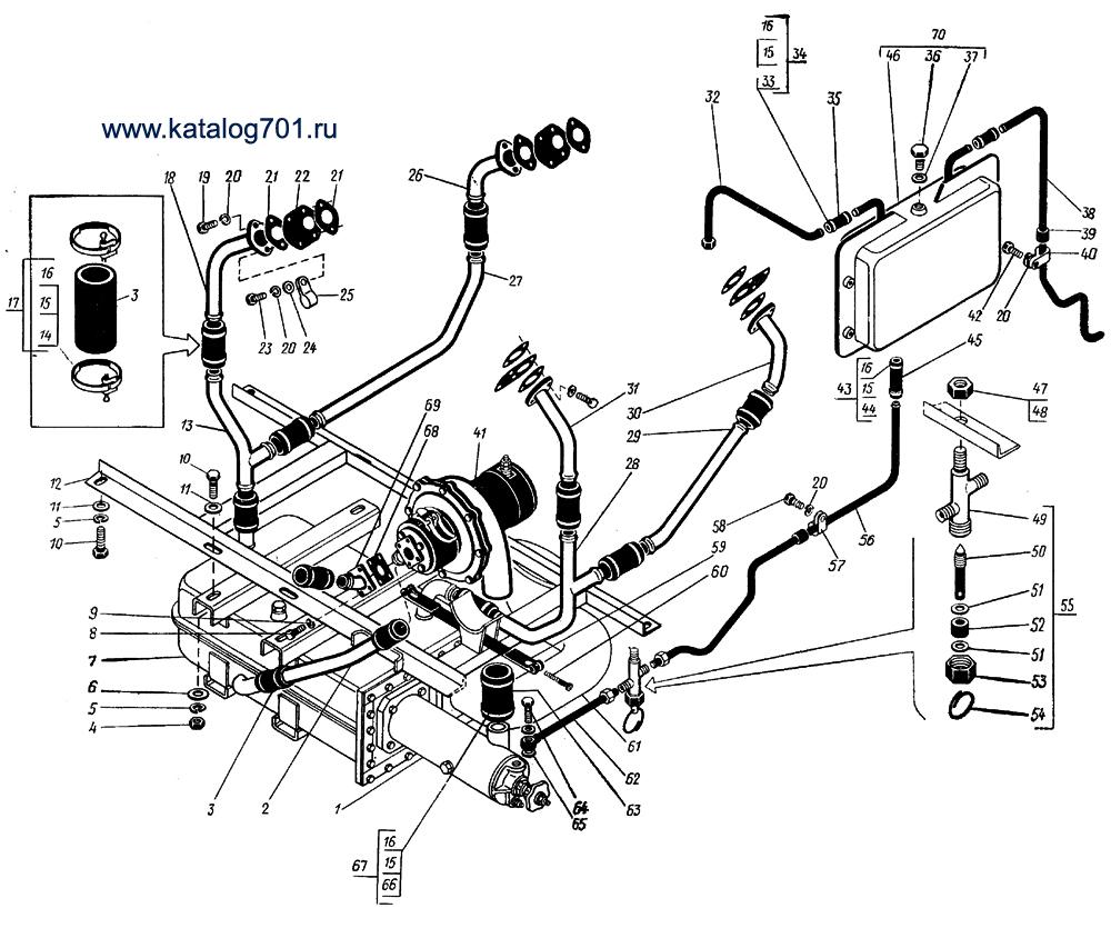Система обогрева трактора К-701.